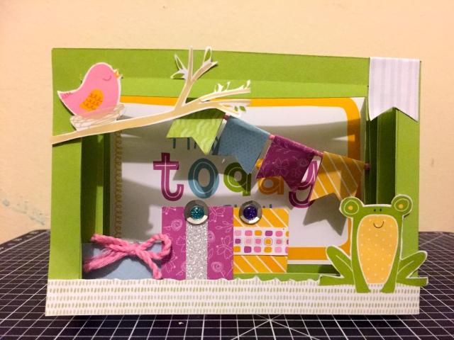 Pop Up Diorama Card using CTMH Penelope