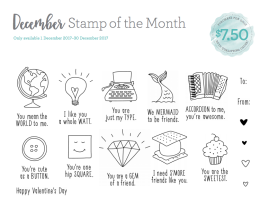 A Little Bit of Pun -December Stamp of the Month www.maz.closetomyheart.com.au